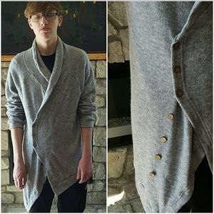 Other - Asymmetrical Button Front Long Line Cardigan